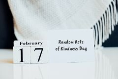 Free Random Acts Of Kindness Day Of Winter Month Calendar February Stock Photos - 209230193