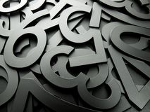 Grey metal texture numbers Royalty Free Stock Image