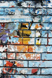 Random background collage paper texture on brick wall Royalty Free Stock Photos