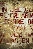 Random background painted typography texture on wall Royalty Free Stock Photo