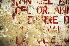 Random background painted typography texture on wall Royalty Free Stock Photography
