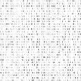 Random binary coding. Technology digital background. Black and white binary code. Vector illustration.  Stock Image