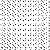 Random black dots seamless pattern. Different spots modern background Stock Photos