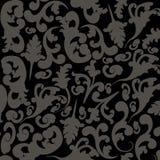 Random black floral. Vector illustration of seamless gray to black  background Stock Image