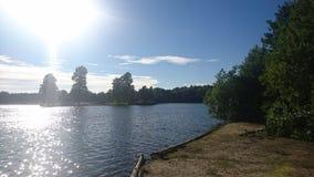 Random. Blue lake Royalty Free Stock Images