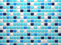Random Blue Mosaic Tiles For Background Royalty Free Stock Photography