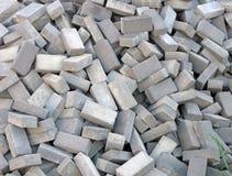 Random brick heap, industry details, Stock Image