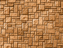 Random brick wall background, yellow construction, Royalty Free Stock Image