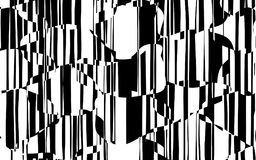 Random Chaotic Lines Abstract Geometric Pattern Stock Image