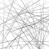 Random chaotic strip lines diagonally, abstract geometric background pattern. Vector modern art illustration, Brownian movement Stock Photos