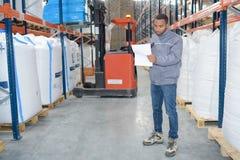Random checking in warehouse. Random checking in the warehouse Stock Photos