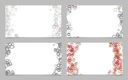 Random circle background business card template design set. Vector graphics Stock Photos