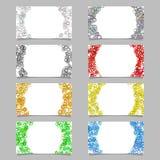 Random circle background business card template design set. Vector graphics Stock Photo