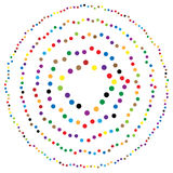Random circles, dots abstract element, circular shape. Royalty free vector illustration stock illustration