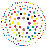 Random circles, dots abstract element, circular shape. Royalty free vector illustration vector illustration