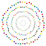 Random circles, dots abstract element, circular shape. Royalty free vector illustration royalty free illustration