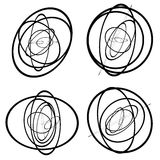 Random circles, ovals forming squiggly lines. Abstract artistic. Geometric element. - Royalty free vector illustration vector illustration
