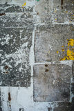 Random collage texture banner on eroded wall Stock Photos