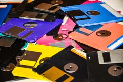 Floppy Disk magnetic computer data storage support stock images