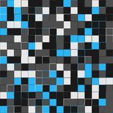 Random blue squares. Random colored abstract, digital generative art for design texture & background. Blue tile. Random colored abstract, digital generative Royalty Free Stock Photography