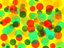 Random Colored Circles Background Royalty Free Stock Photo