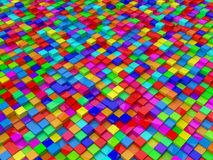 Random colored cubes. Random elevated cubes.random colored,high contrast version Stock Images