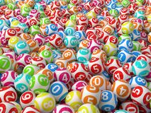 Random colored lottery balls stack Stock Images