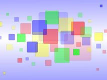 Random Colored Squares Background. An background illustration of random colored squares Stock Images