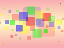 Random Colored Squares Background Stock Image