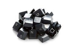 Random computer keys in a heap Royalty Free Stock Image