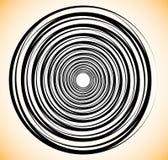 Random concentric circles. Abstract geometric spiral, swirl elem. Ent. - Royalty free vector illustration vector illustration