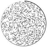 Random concentric segmented circles. Circular geometric element. Royalty free vector illustration royalty free illustration