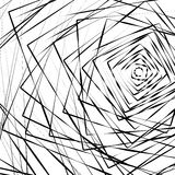 Random concentric squares spreading from side. Abstract, chaotic Stock Images