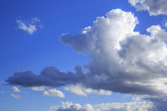 Blue Sky and Cumulus Clouds Stock Photography