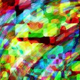 Random Digital Abstract Jumble Colors Royalty Free Stock Photo