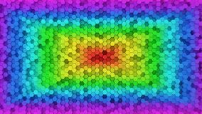 Random elevated hexagon columns background Stock Image