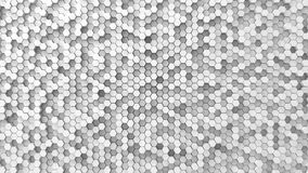 Random elevated hexagons background. Stock Images