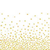 Random Falling Golden Dots Background Royalty Free Stock Images