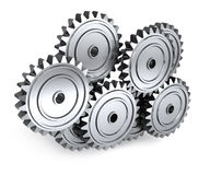 Random Gears Royalty Free Stock Photos