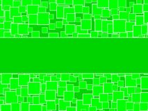 Random Green Squares Background With Center Space Royalty Free Stock Image