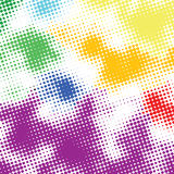 Random halftone colorful back Royalty Free Stock Photo