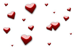 Random Hearts Royalty Free Stock Photography