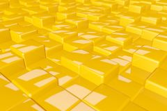 Random height glossy cubes 3d rendering colorful bright background image vector illustration