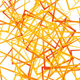 Random intersecting lines, squares. Modern colorful geometric te Stock Image