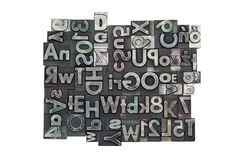 Random letterpress background. With clipping path royalty free stock photography