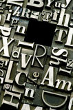 Random letterpress background Stock Photo