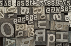 Random letterpress Stock Photography