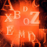 Random letters Stock Photos
