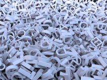 Random letters. Huge amount of random letters stock illustration