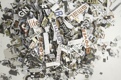 Random magazine words and letters Stock Photography